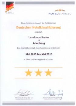 Auszeichnung: 3-Sterne Hotel