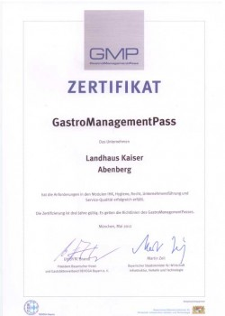 Auszeichnung: GMP